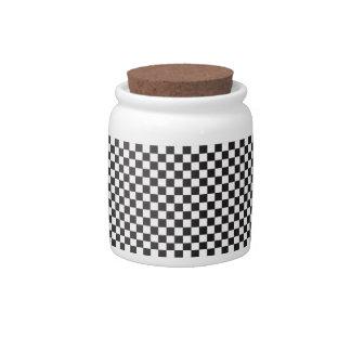 Checkered Pattern Candy Jar