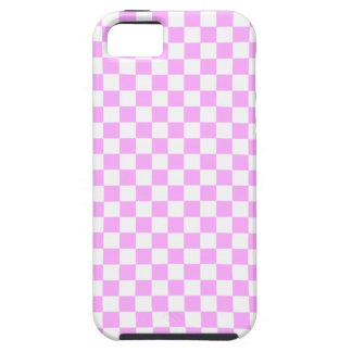 Checkered Pink & White Patterned iPhone 5 Case