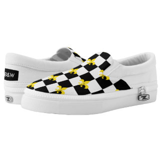 Checkered Print (Fleurdelis) Printed Shoes