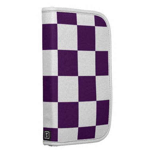Checkered Purple and White Folio Planner