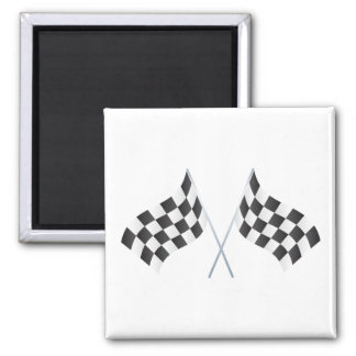 checkered racing flags graphic square magnet
