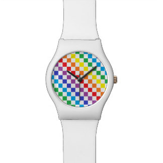 Checkered Rainbow Watch