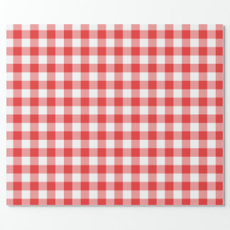 Checkered red and white wrapping paper