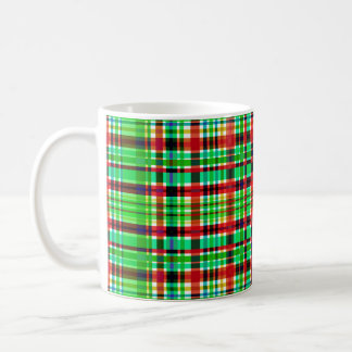 """Checkered Red & Green"" 325 ml  Classic White Mug"