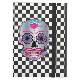Checkered Rose Candy Skull Ipad Air Case