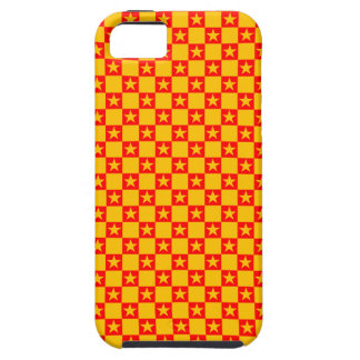 Checkered Stars Patterned iPhone 5 Case