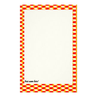 CHECKERED STATIONERY