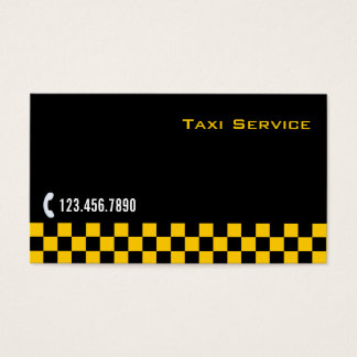 Checkered Stripe Taxi/Limo Service Business Card