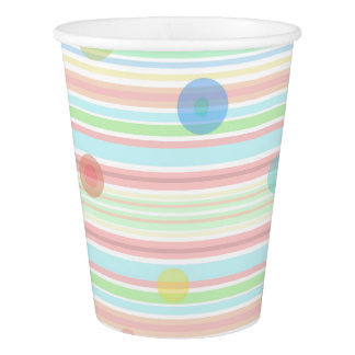 """Checkered / Striped"" Paper Cup, 266 ml"