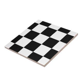 black and white checkered ceramic tiles. Black Bedroom Furniture Sets. Home Design Ideas