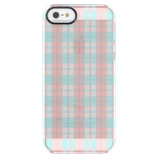 checkered turquoise and rouge clear iPhone SE/5/5s case