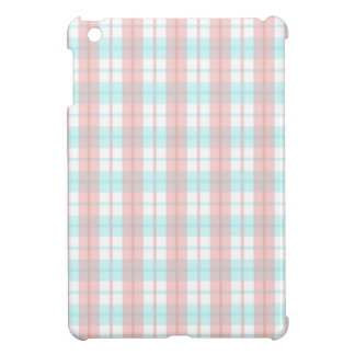 checkered turquoise and rouge cover for the iPad mini