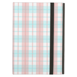 checkered turquoise and rouge iPad air case