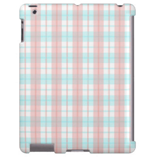 checkered turquoise and rouge iPad case