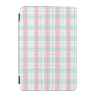 checkered turquoise and rouge iPad mini cover