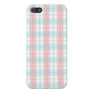 checkered turquoise and rouge iPhone 5/5S covers
