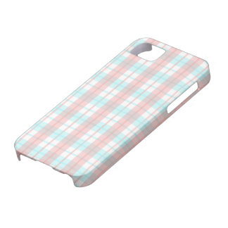 checkered turquoise and rouge iPhone 5 case