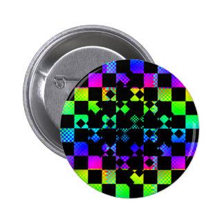 Checkered Twist by Kenneth Yoncich 6 Cm Round Badge