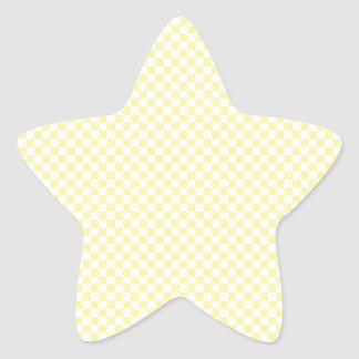 Checkered - Yellow 2 - Light Yellow and Corn Star Sticker
