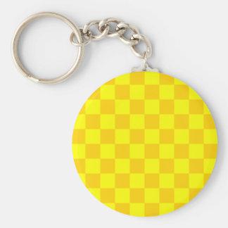 Checkered - Yellow and Dark Yellow Key Chain