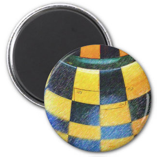 Checkers 6 Cm Round Magnet