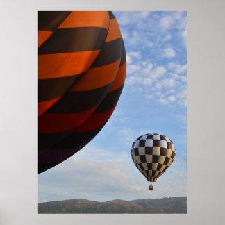 Checkers Balloon Poster