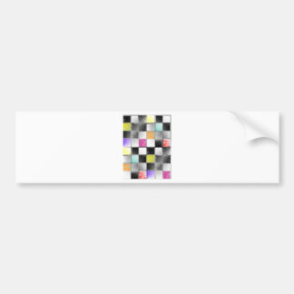 checkers candy colors.jpg bumper sticker