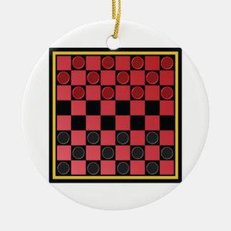 Checkers Game Christmas Ornament