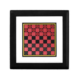 Checkers Game Small Square Gift Box