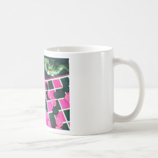 Checkers kitty! basic white mug