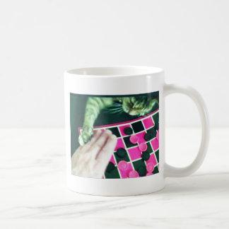 Checkers kitty! basic white mug