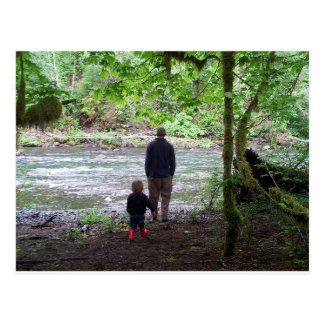 Checking out the Sol Duc River Postcard