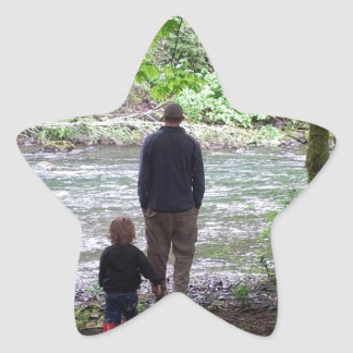 Checking out the Sol Duc River Star Sticker