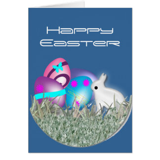 Checking the Easter Eggs Greeting Card