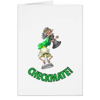 Checkmate! Chess pieces (brainy board game) Greeting Cards