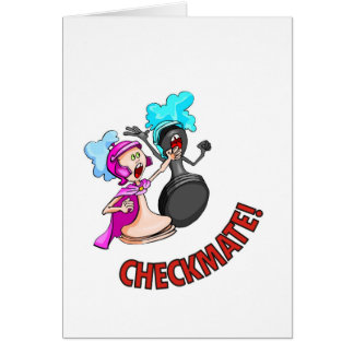 Checkmate! Chess pieces (brainy board game) Greeting Card