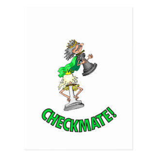 Checkmate! Chess pieces (brainy board game) Postcard