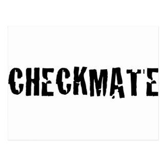 checkmate chess postcard