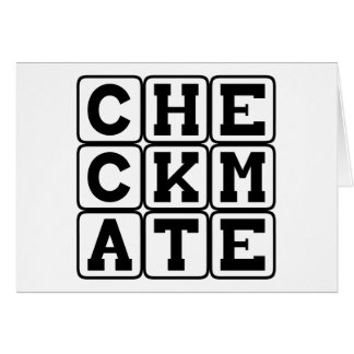 Checkmate, Finishing Chess Move Card