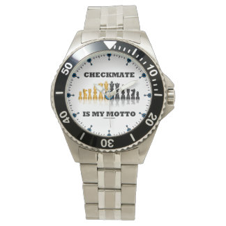 Checkmate Is My Motto Reflective Chess Set Watch