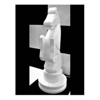 Checkmate, Knight Chess Piece Postcard