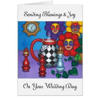 CHECKMATE WEDDING GREETINGS GREETING CARD