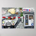 Checkpoint Charlie, Berlin, Cartoon (Large) Print