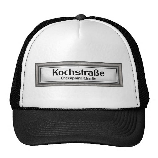 Checkpoint Charlie, Kochstrabe, Black and White Hat