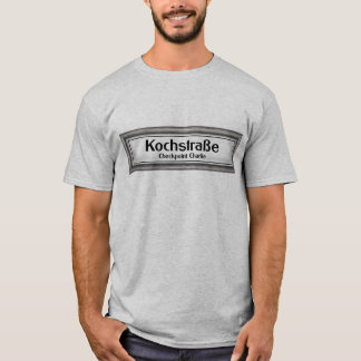 Checkpoint Charlie, Kochstrabe, Black and White T-Shirt