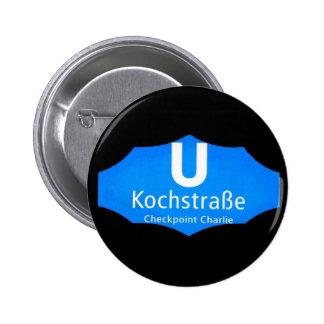 Checkpoint Charlie Kochstrabe UBahn Blue Blk Pin
