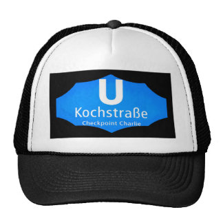 Checkpoint Charlie, Kochstrabe, UBahn, Blue,/Blk Trucker Hats