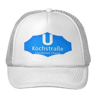 Checkpoint Charlie, Kochstrabe, UBahn, Blue,/White Mesh Hats