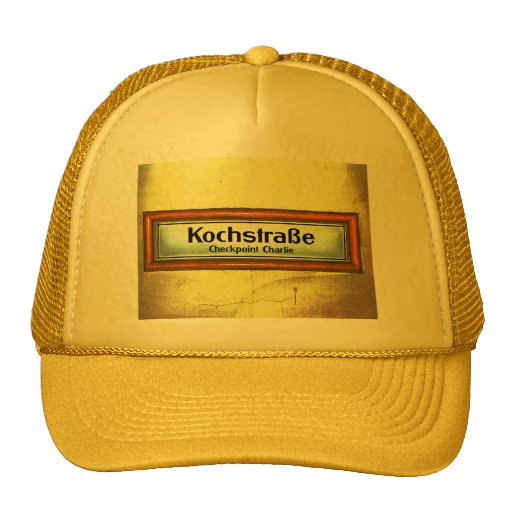 Checkpoint Charlie, Kochstrabe, Yellow and Orange Hat