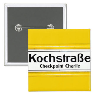 Checkpoint Charlie Kochstrabe Yellow Border Buttons